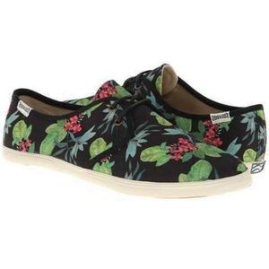 SOLUDOS canvas floral tie up sneakers shoes
